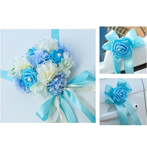 Dovewill Wedding Car Decoration Kits 9 Colors - Blue