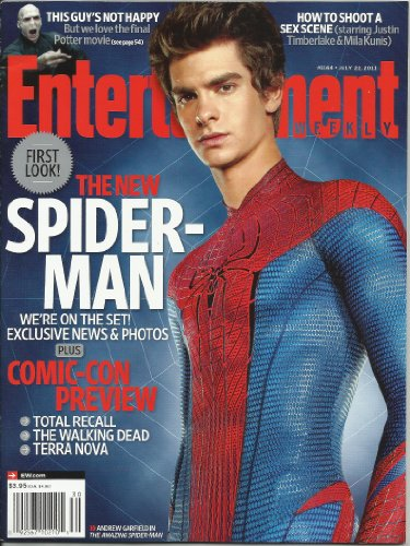 Entertainment Weekly Magazine Comic Con Preview with The Amazing Spider-Man Andrew Garfield on the cover July 22, 2011 from The Amazing Spider-Man