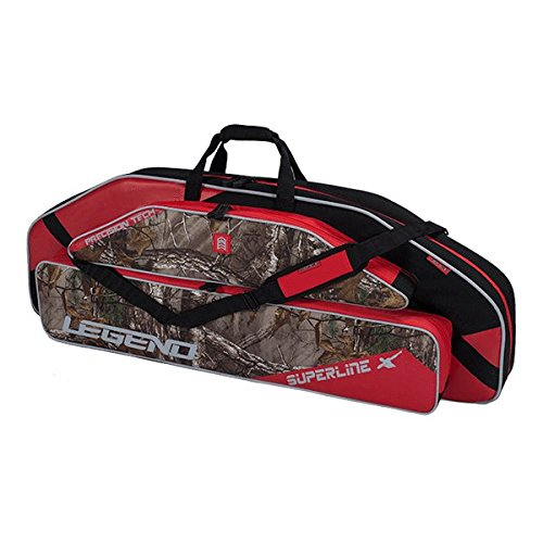 Legend Archery Superline Compound Bow Case - Backpack Shoulder with Straps - Inside Length 44'' (Red/Realtree)