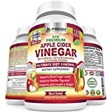 Organic Apple Cider Vinegar Pills Max 1740mg - 100% Natural & Raw with Ceylon Cinnamon, Ginger & Cayenne Pepper - Ideal for Healthy Blood Sugar, Detox, Weight Loss & Digestion - 120 Vegan Capsules