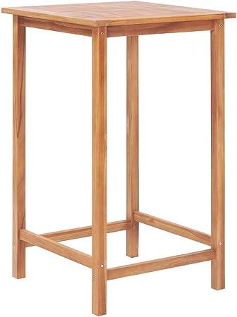 Tavoli Da Bar Per Esterno.Ghuanton Tavolo Da Bar Per Esterni 65x65x110 Cm In Massello Di