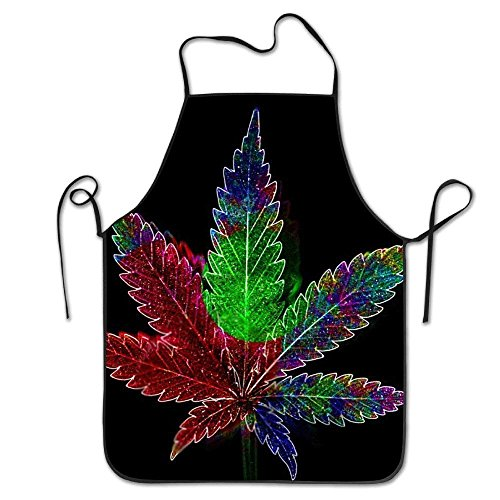 AshasdS AfagaS Marijuana Weed Plants Character Design Chef Apron for Women Men Barber Cooking Crafting