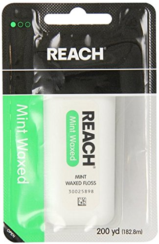 REACH Mint Waxed Floss 200 Yards (Pack of 11) -