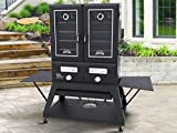 "Smoke Hollow SH3616DW Double Door Extra Wide Propane Gas Smoker,  3,000 sq. inches of total cooking surface,   72.5"" x  27.5"" x 66"""