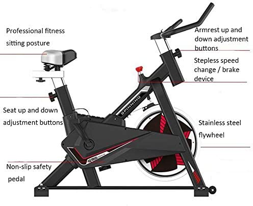 MMZX Indoor Cycling Exercise Bike Cardio Spinning Bike,Home Exercise Bike Fitness Equipment,Sports Weight Loss Equipment,Bicycle Commercial Gym, for Home Workout,Musle 5
