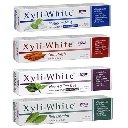 4-Pack: Now Foods Xyliwhite Variety Pack Sampler - 6.4 ounces each