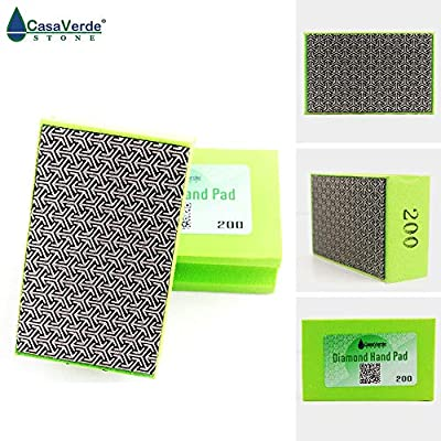Grit 200# Electroplated Diamond Hand Polishing Pads (XEHPP200): Home Improvement