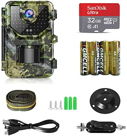 "1080P 16MP Trail Camera, Hunting Camera with 120°Wide-Angle Motion Latest Sensor View 0.2s Trigger Time Trail Game Camera with 940nm No Glow and IP66 Waterproof 2.4"" LCD 48pcs for Wildlife Monitoring"