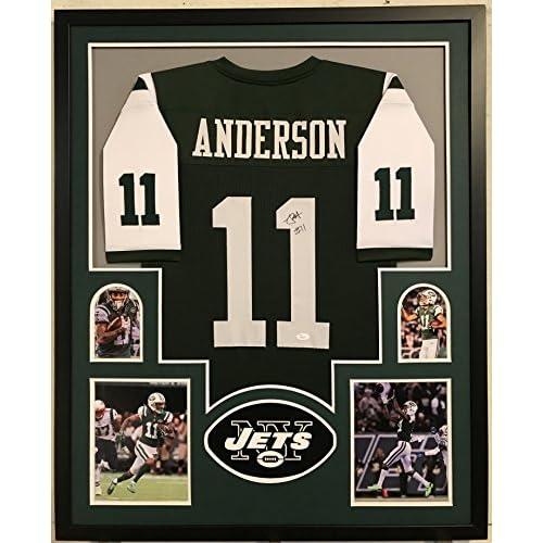 san francisco e7f57 9790e Robbie Anderson Autographed Custom Framed New York Jets ...