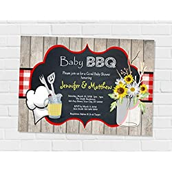 Baby Bbq Invitation, Barbecue Baby Shower Invitation, Baby Q Invitation BBQ Co-ed Couples Shower Invitation, BabyQ Coed Shower Invitation