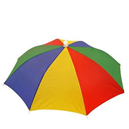 MUANI Paraguas Sombrero - los Colores Multi