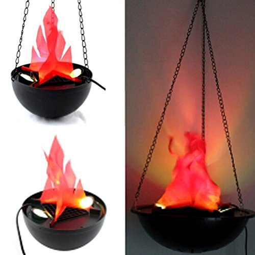 UNAKIM --Flame Lamp with Artificial Fake Fire Light Party Halloween Decoration CHE