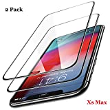 Screen Protector for iPhone Xs MAX Compatible Full Coverage Tempered Glass 9H Hardness,3D Full Frame Curved Edge, Easy Installation,Case Friendly 6.5-Inch 2018 [2 Pack]
