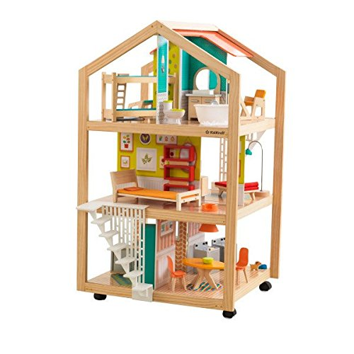 51%2BxgS6n0PL - KidKraft So Chic Dollhouse with Furniture