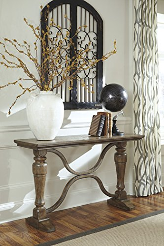 Signature Design by Ashley Tanshire Light Brown Sofa Table
