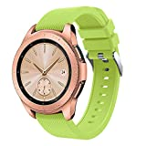 Digood Soft Silicone Watch Band Replacement Band Strap for Samsung Galaxy Watch 42mm (Light Green)