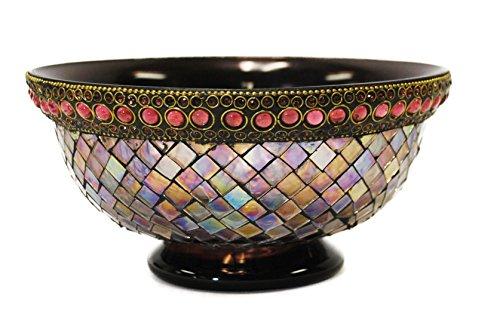 Decorative Centerpiece Bowl by Ima (Mosaic Fruit)