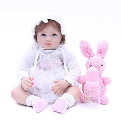 Beautiful Princess Baby Toys 22 Inchs Reborn Doll Silicone 55 Cm Dolls & Stuffed Toys Doll Toy For Children Birthday Gift To The Girl Yet Not Vulgar Dolls