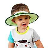 Datework Adjustable Safe Baby Child Kids Shampoo Bath Shower Cap Protection Soft Fruit Hat Wash Hair (Green)