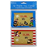 Pirate Thank You Cards and Envelopes, Pack of 12