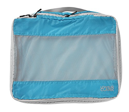 Lewis N Clark Electrolight Packing Cube, Large, Bright Blue