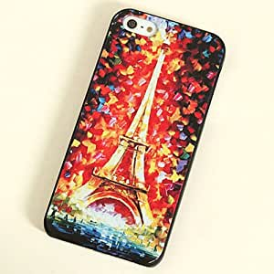 Paint Various Pattern Phone Hard Back Skin Case Cover for Apple IPhone 4 4S (13-Eiffel Tower)