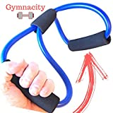Cheap Gymnacity Figure 8 Workout Band with Handles Awesome Strength Training, AND Perfect for Getting Your Butt and Legs Toned, Resistance Exercise Band for Legs and Butt Excellent for Home Workouts,
