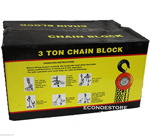 3 Ton Hs Type Chain Hoist Block And Tackle Lift Tool Hd 10ft