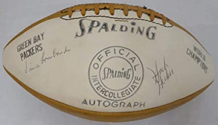 bfe8ad13 1962 Green Bay Packers Team Autographed Football With 41 Signatures ...