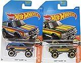 Hot Wheels 2017 HW Hot Trucks Chevy Blazer 4x4 8/10, Set of 2, Blue & Green variations