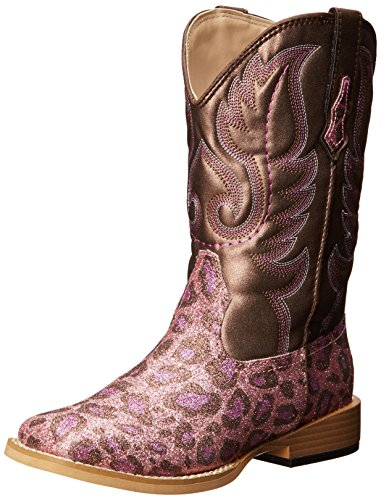 - Roper Square Toe Glitter Leopard Western Boot (Toddler/Little Kid),Pink/Brown,8 M US Toddler