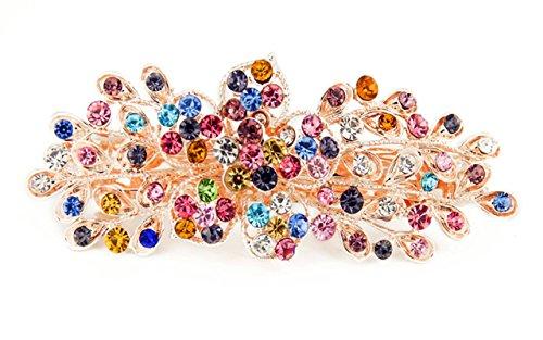 Yeshan Rhinestone Crystal Barrettes Multicolors