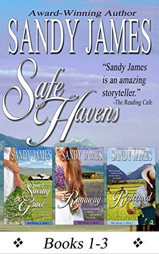 Treat yourself to over 800 pages of popular Western Romance with this 3-in-1 BOXED SET ALERT!  Safe Havens Bundle by Sandy James