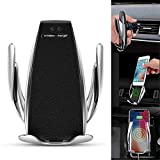 Automatic Wireless Car Charger Mount, LEEGOAL Wireless Car Charger Holder 10W Fast Charging Holder Infrared Motion Sensor Automatic Open and Clamp Car Charging for iPhone,Samsung