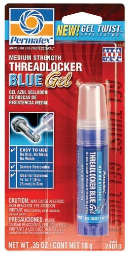 Permatex 24010-6PK Medium Strength Threadlocker Blue Gel, 10 g Gel Twist Applicator (Pack of 6) by (Gel Twist Applicator)