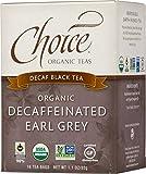 Choice Organic Decafeinated Earl Grey Black Tea, 16 Count Box