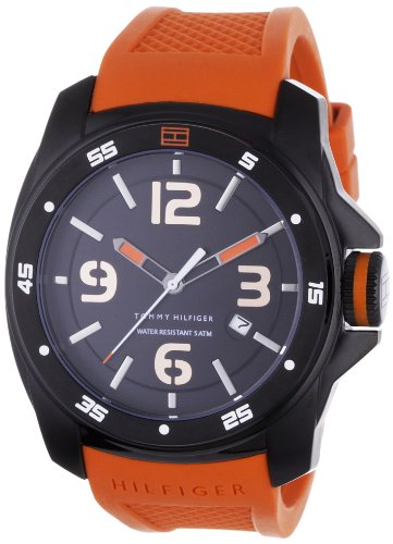 Tommy Hilfiger Men's Sport Black Ion Plated Case Silicon Strap Watch - 1790709