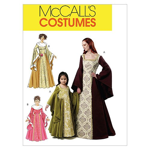 Mccalls Renaissance Costume Patterns (McCall's Patterns M6376 Misses'/Children's/Girls' Costumes, Size KID [(3-4) (5-6) (7-8)])