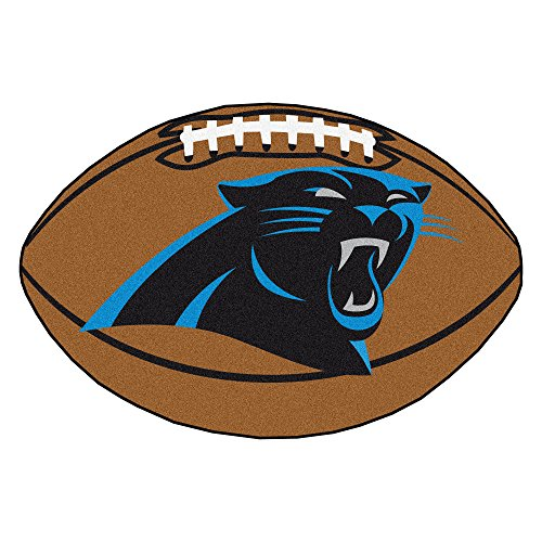 Panther Face (Fanmats NFL Carolina Panthers Nylon Face Football Rug)