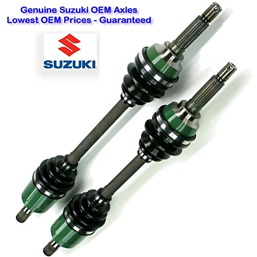 Two Suzuki Eiger 4X4 Drive Shafts, Suzuki Eiger 400 4WD Right and Left CV Axles, Fitments: (2002-2007) Eiger LT-F400F 4x4, LT-A400F 4x4 Auto, Genuine Suzuki OEM Complete Right and Left CV Axles - Suzuki Oem Atv Parts