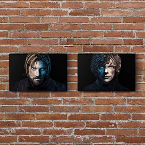 Game of Thrones Painting Set - Jaime - Tyrion - Art Prints - Wall Decor - Posters - Gift (4x6-11x17 IN)