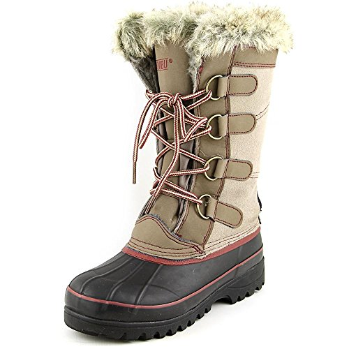 Khombu Womens North Star Thermolite Weather Rated Winter Snow Boots (6, Tan)