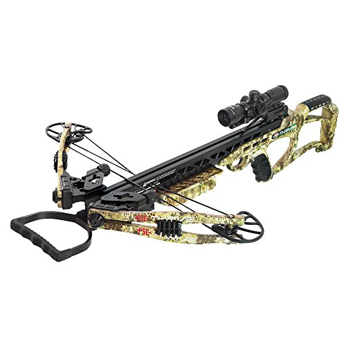 (PSE Thrive 400 Crossbow Kryptek Highlander 175lbs 4x32 Illuminated Scope Package)