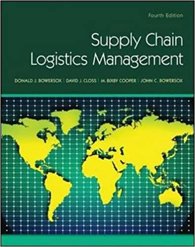Supply Chain Logistics Management: Donald Bowersox, David Closs, M