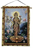 Lakshmi Orange Lotus Tapestry Wall Hanging
