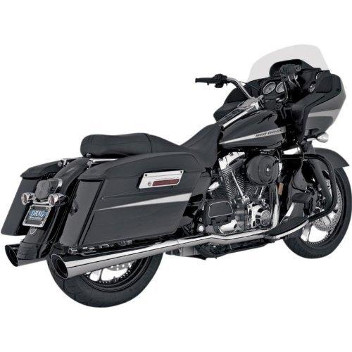 Vance & Hines Mufflers Slip on Slash Cut Chrome for Harley FL 95-10 (Screamin Eagle Mufflers)