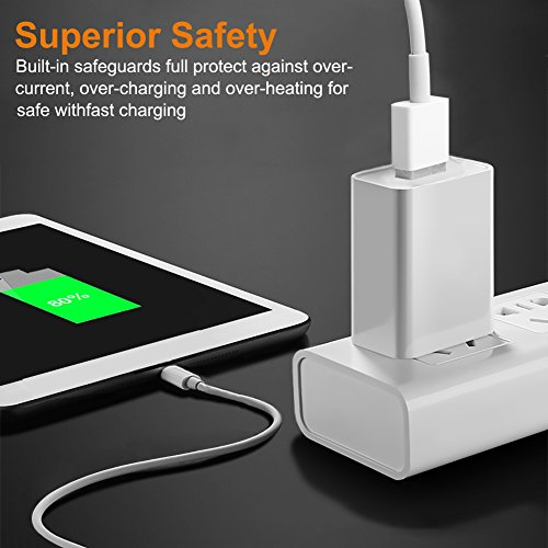 iPhone Charger,Lightning Cable Charger Kit (Dual USB Car Charger+Wall Charger+2 X Lightning Cables) for iPhone 8,iPad Charger Kit for iPhone X/8/7/6s/5s/Plus, iPad Pro/Air 2/Mini and More by YouCoulee (Image #7)