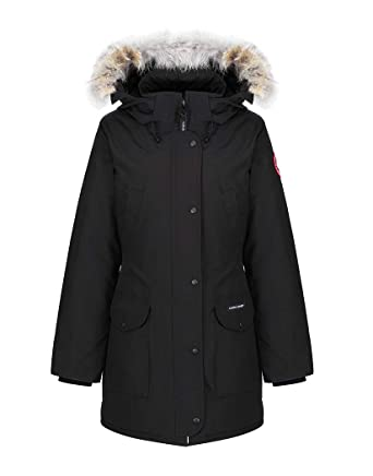 canada goose trillium parka in black amazon co uk clothing rh amazon co uk