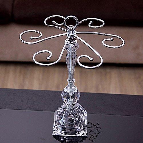 Wine Glass Holder Modern Crystal Wine Glass Rack Red Wine Glass Stemware Rack Hanging Upside Down Goblet Storage Holder Rack (Crystal)