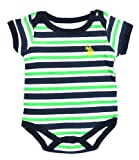 US Polo Assn Newborn Boys Assorted Bodysuits (0/3M, Navy Stripe) image